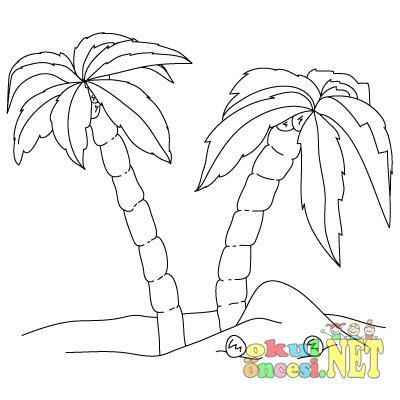 نقاشی درخت نخل Palmiye Ağacı Boyamaları | Okul Öncesi ~ Okul Öncesi ...