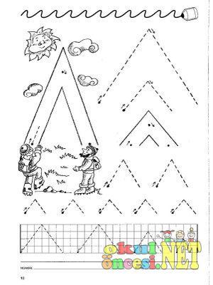 Okul öncesi çizgi tamamlama çalışmaları anasınıfı çizgi