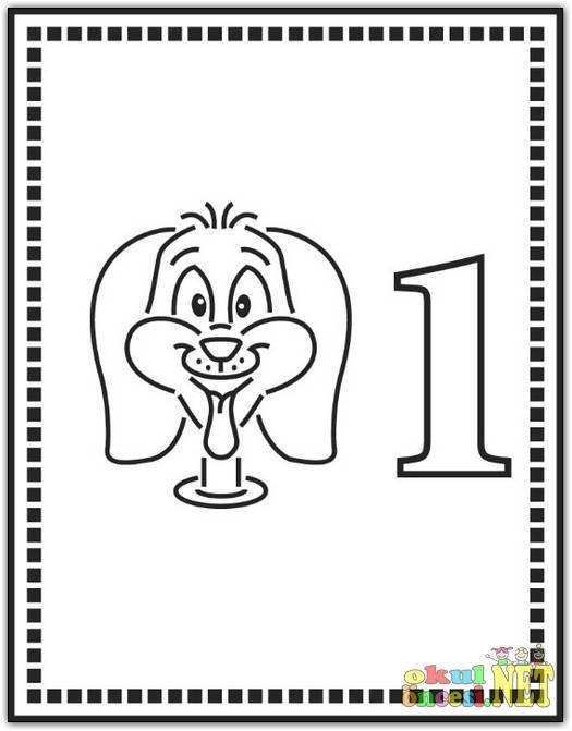 Цифра 1 раскраска - 10