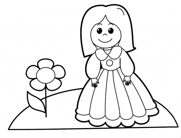 393Раскраска дети для печати