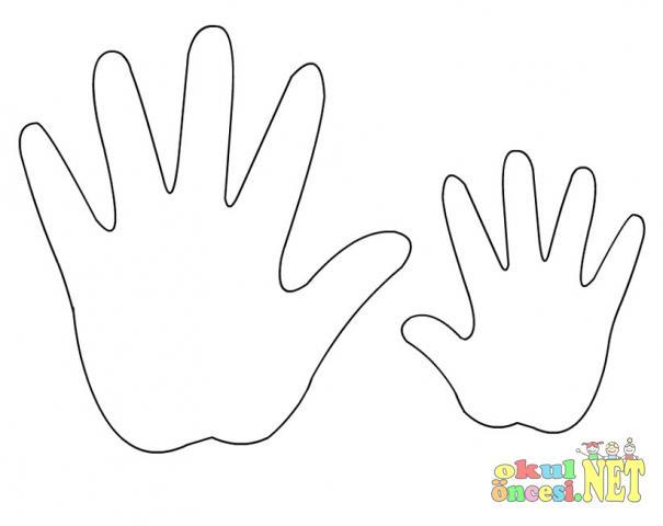 Шаблон руки для поделки