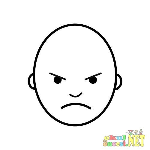 Kızgın ve mutlu yüz ifadeleri