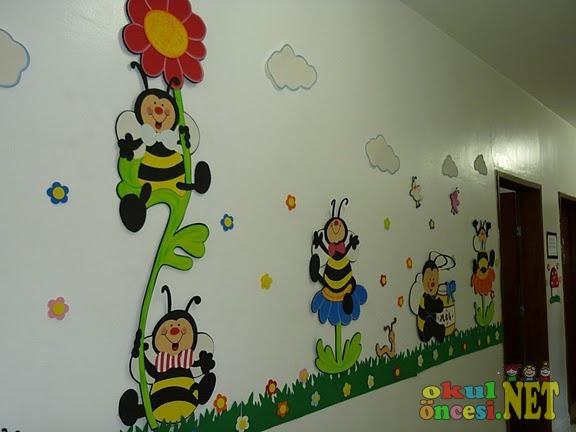 Arılar duvar süsleri