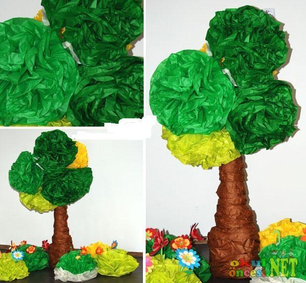 Деревья для кукольного сада своими руками