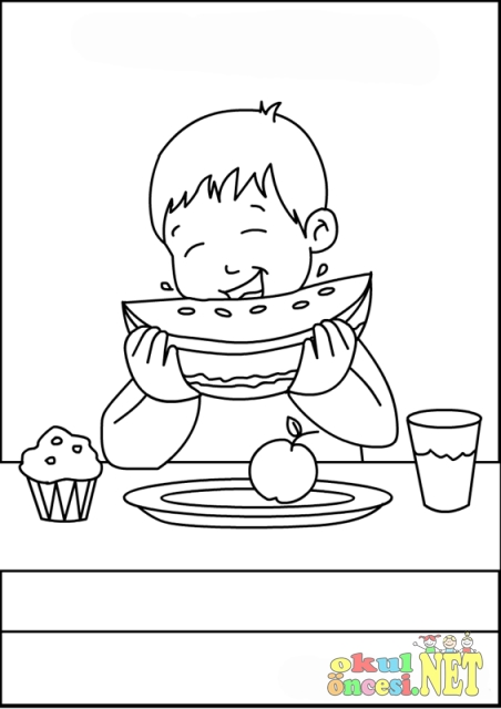 Snacks Printable Coloring Pages Snack Coloring Pages