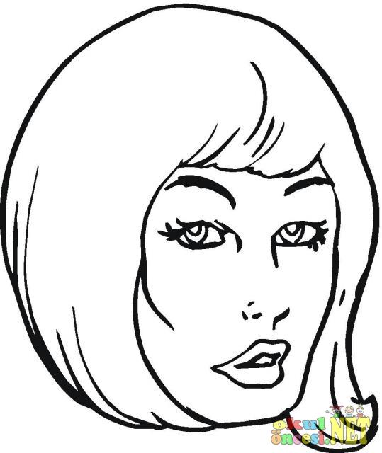 Лицо девушка раскраска