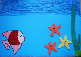 Küçük Kırmızı Balık Hikaye Kartı Okul öncesi Okul öncesi