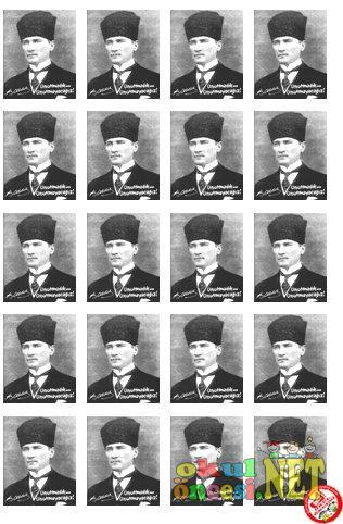 10 Kasım Için Atatürk Rozetleri Okul öncesi Okul öncesi
