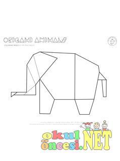 Origami Fil Boyama Okul öncesi Okul öncesi Etkinlikleri Ana Okulu