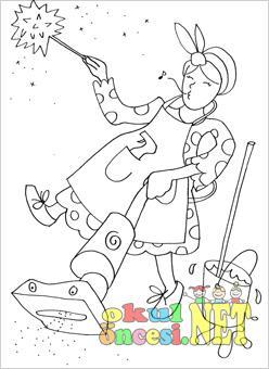 Temizlik Görevlisi Boyama Okul öncesi Okul öncesi Etkinlikleri