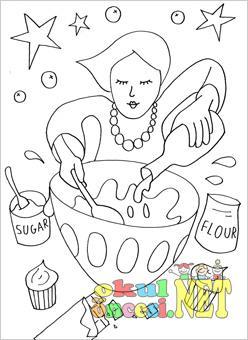 Aşçı Boyama Okul öncesi Okul öncesi Etkinlikleri Ana Okulu