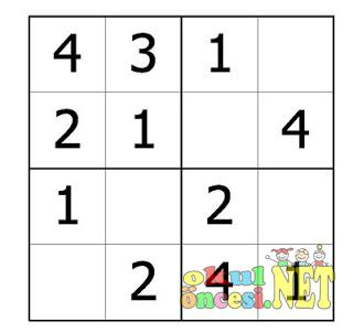 Rakamlarla Sudoku Calismasi 1 2 3 4 Okul Oncesi Okul Oncesi