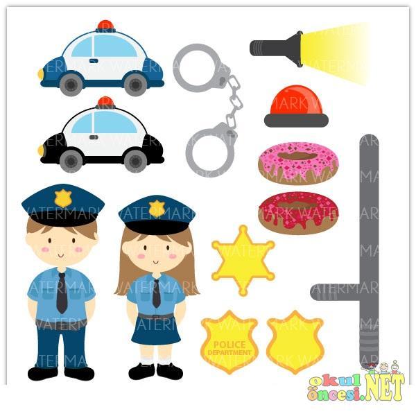 Polis Haftasi Ile Ilgili Renkli Afisler Okul Oncesi Okul