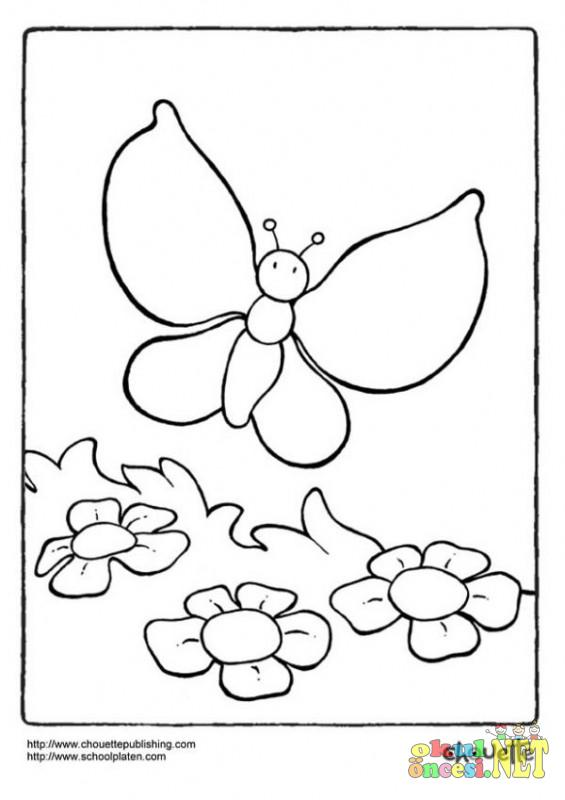 çocuklar Için Kelebek Boyamaları Okul öncesi Okul öncesi