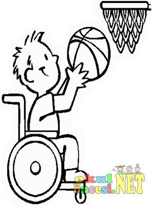 Engelli çocuklar Ile Ilgili Boyama Sayfası Okul öncesi Okul