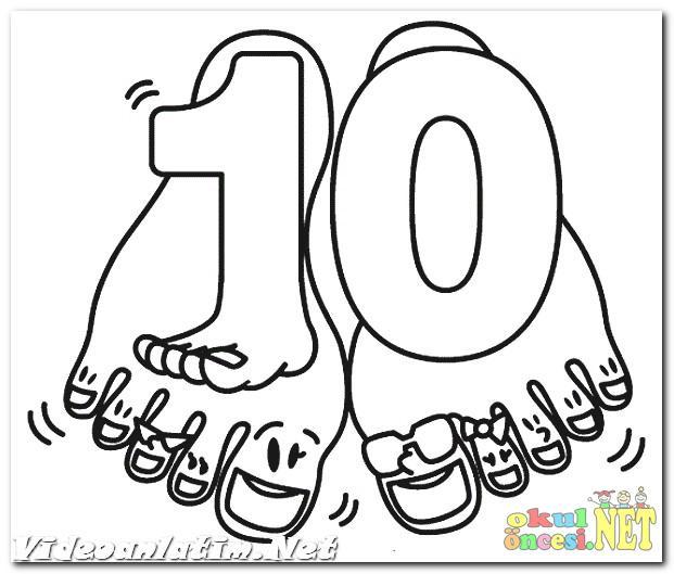 10 Rakamıyla Ilgili Boyama Sayfaları Okul öncesi Okul öncesi