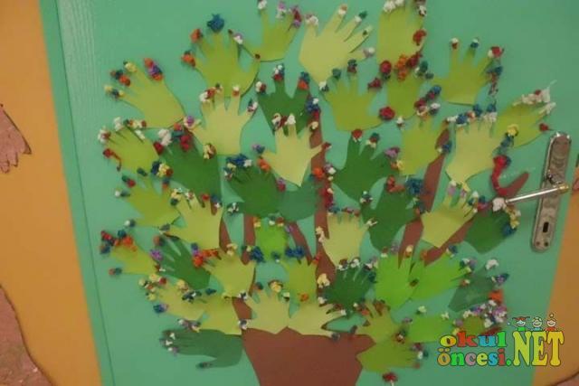 Kapı Süsü Ağaç Okul öncesi Okul öncesi Etkinlikleri Ana Okulu