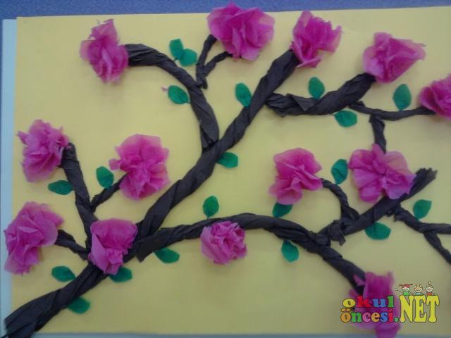 çiçek Açmış Ağaç Okul öncesi Okul öncesi Etkinlikleri Ana Okulu