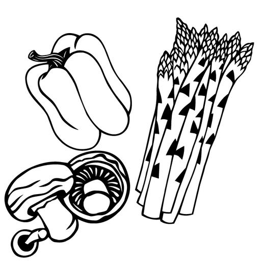 Sağlıklı Sebzeler Boyama Okul öncesi Okul öncesi Etkinlikleri