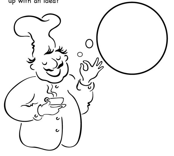 Aşçıya Yardımcı Olalım Boyama Okul öncesi Okul öncesi