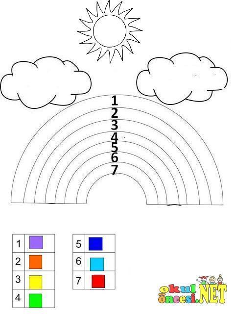 Renklerle Ilgili Calisma Sayfasi Okul Oncesi Okul Oncesi
