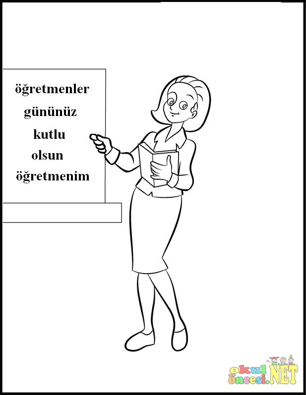 Ogretmenler Gunu Icin Yeni Boyama Sayfalari Okul Oncesi Okul
