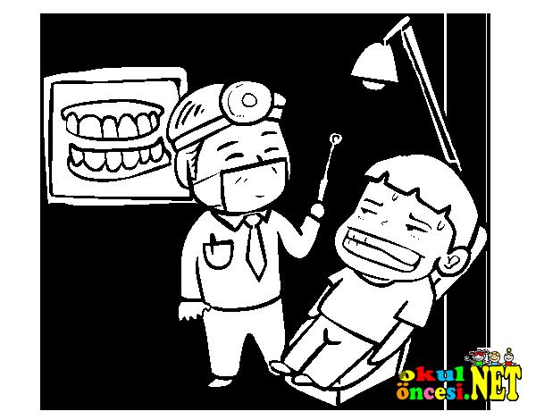 Diş Hekimi Boyama Sayfaları Okul öncesi Okul öncesi Etkinlikleri