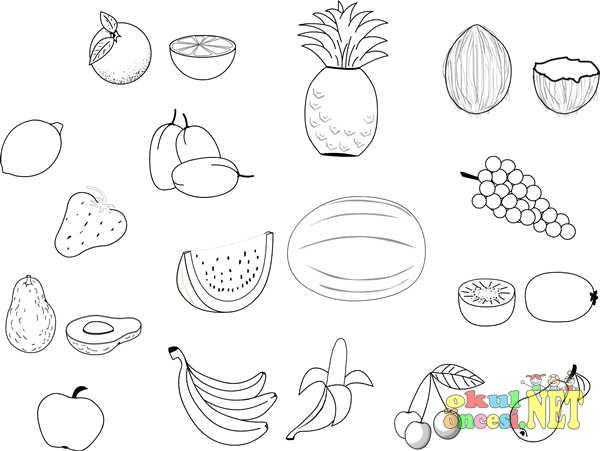 Sebze Meyve Boyamalari Okul Oncesi Okul Oncesi Etkinlikleri