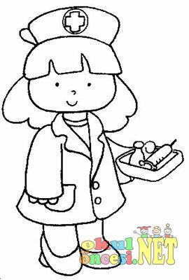 Hemşire Boyamaları Okul öncesi Okul öncesi Etkinlikleri Ana Okulu