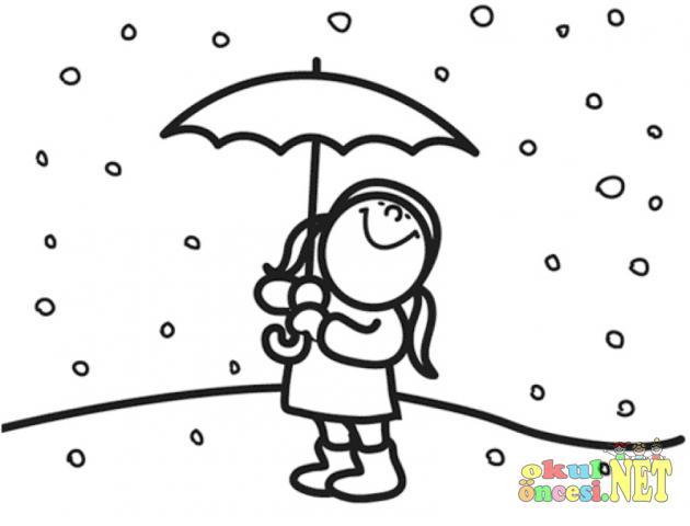 Kış Mevsimi Ile Ilgili Boyamaları Okul öncesi Okul öncesi