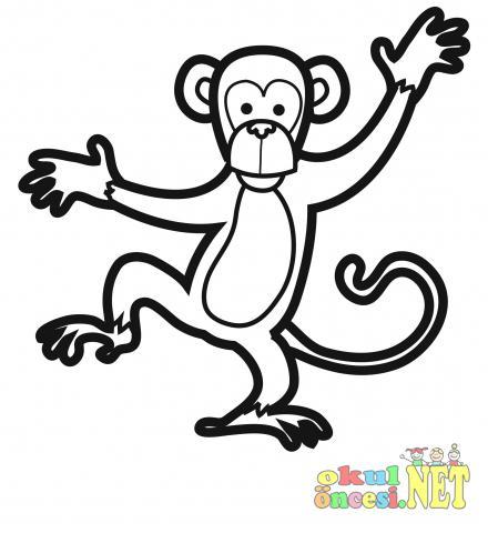 Maymun Turleri Boyama Sayfalari Okul Oncesi Okul Oncesi