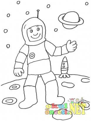 Uzay Boyamaları Okul öncesi Okul öncesi Etkinlikleri Ana Okulu