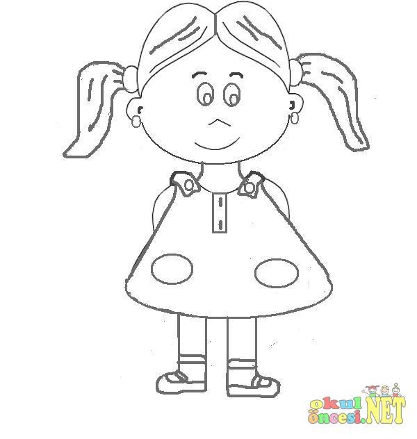 Kız çocuk Resmi Boyama Gazetesujin