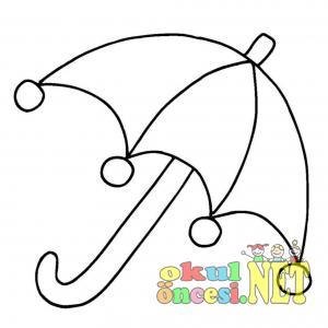 şemsiye Boyamaları Okul öncesi Okul öncesi Etkinlikleri Ana Okulu