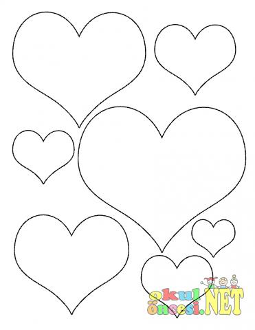 Küçük Kalpler Boyama Gazetesujin