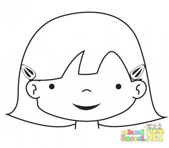 Sevimli çocuk Boyamaları Okul öncesi Okul öncesi Etkinlikleri