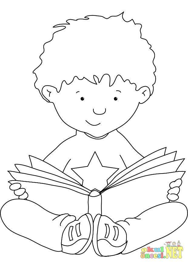 Kitap Merkezi Icin Boyama Sayfalari Okul Oncesi Okul Oncesi