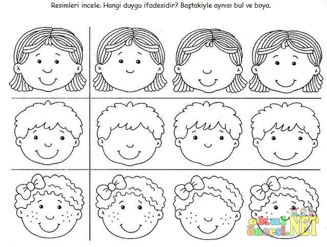 Mutlu Hangi Duygu Ifadesi Okul öncesi Okul öncesi