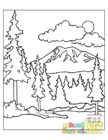 Orman Boyamaları Okul öncesi Okul öncesi Etkinlikleri Ana Okulu