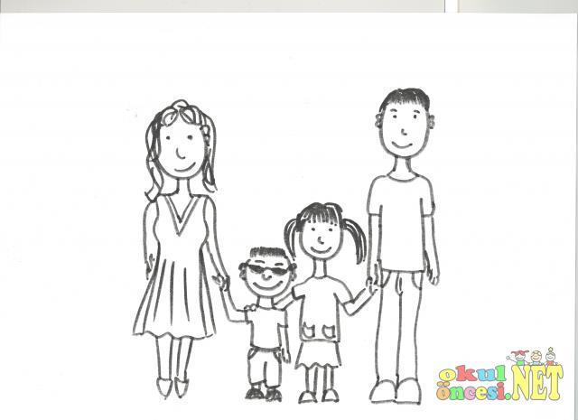 Ailem Ve Ben Boyama Okul öncesi Okul öncesi Etkinlikleri Ana