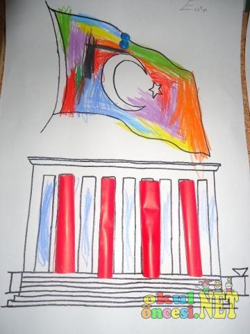 Anitkabir Calismalari Kalipli Okul Oncesi Okul Oncesi