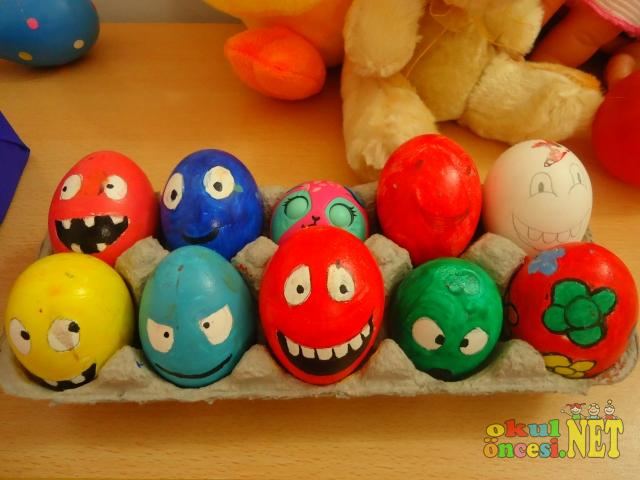 Yumurta Boyama Ile Sevimli Karakterler Okul öncesi Okul öncesi