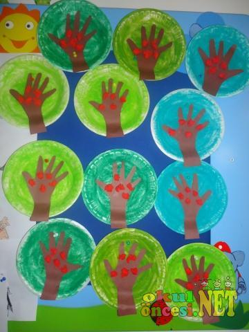 Tabakta Ağaç Yapımı Okul öncesi Okul öncesi Etkinlikleri Ana Okulu