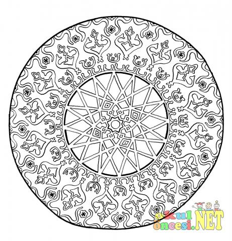 Zor Mandala Boyama Sayfası Okul öncesi Okul öncesi Etkinlikleri