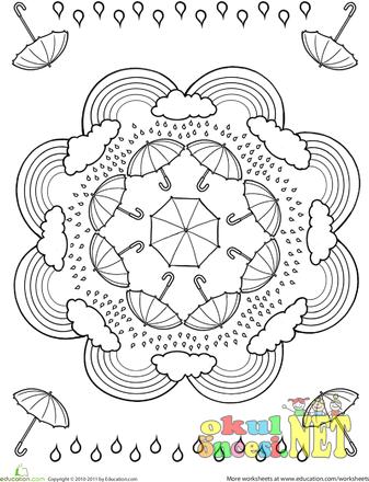 Mevsimler Ile Ilgili Mandala Okul öncesi Okul öncesi