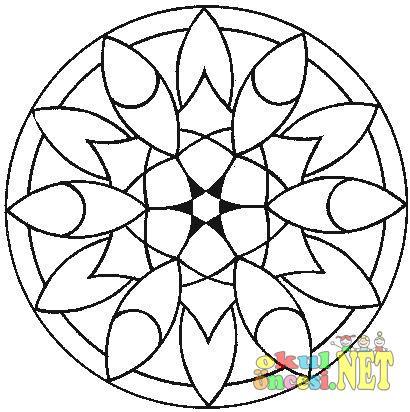 Mandala Boyama Sayfasi Okul Oncesi Okul Oncesi Etkinlikleri