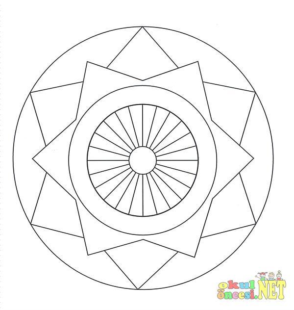 Kolay Mandala Sayfasi Okul Oncesi Okul Oncesi Etkinlikleri