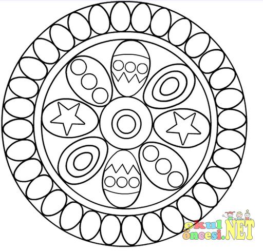 Süslü Yumurtalı Mandala Okul öncesi Okul öncesi Etkinlikleri