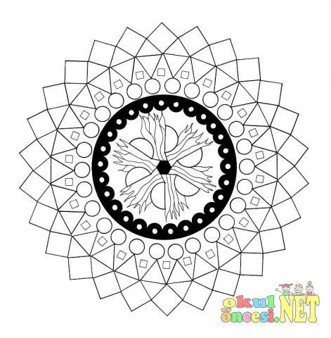 Geometrik Sekilli Mandala Okul Oncesi Okul Oncesi Etkinlikleri