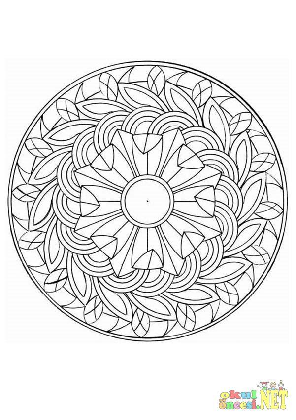 Büyük Yaş Grubu Için Mandala örneği Okul öncesi Okul öncesi